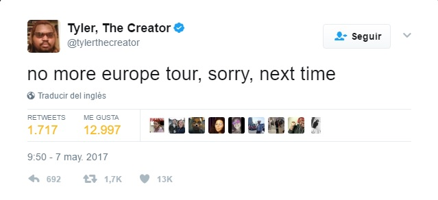tweet Tyler The Creator